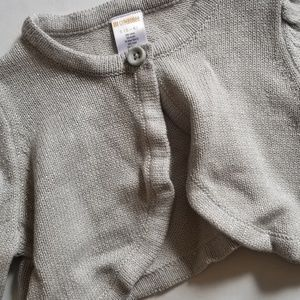 Gymboree Shirts & Tops - Silver sparkly shrug sweater